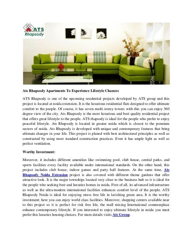 Ats rhapsody apartments to experience lifestyle chances