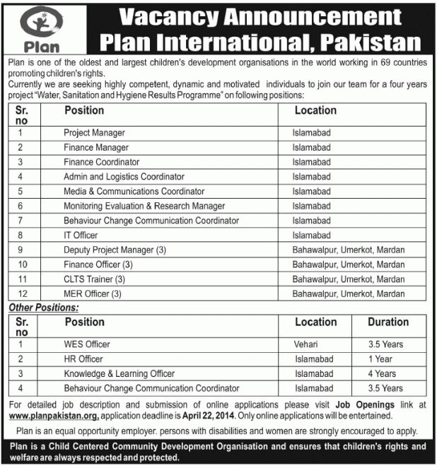 Officer Job, Plan Ngo Job, Project Manager, Finance Manager ...