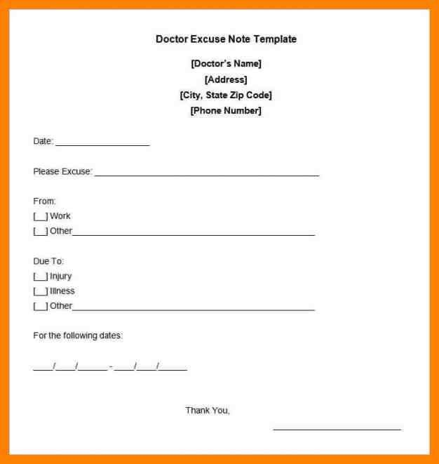 10+ work absence doctor excuse note | day care receipts
