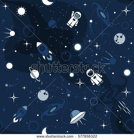 Vector Flat Space Design Background Text Stock Vector 572708635 ...