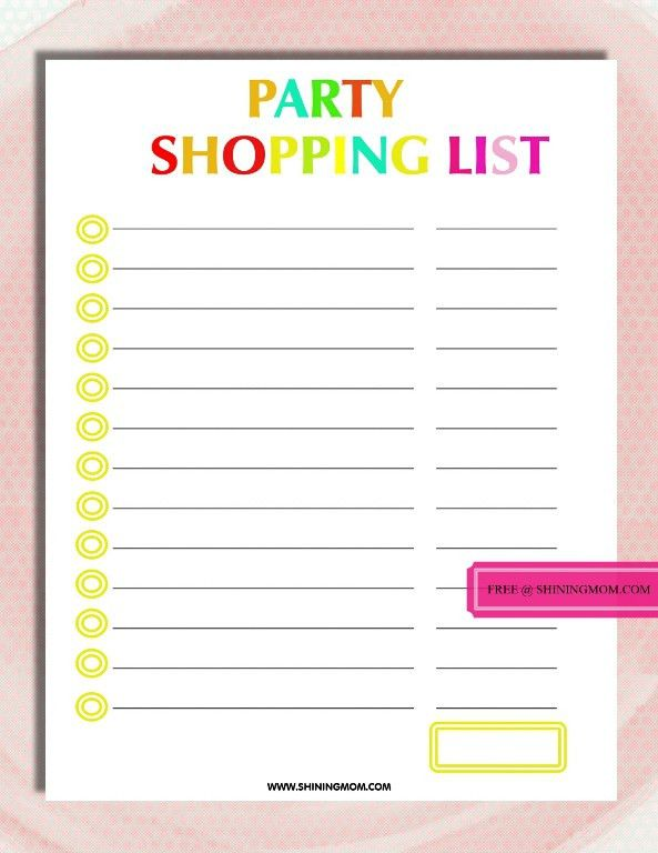 Party Planning Template. Party Planning Checklist Template Party ...