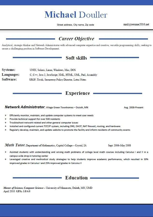 most recent resumes