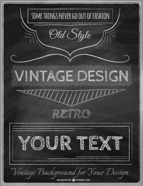 Vintage poster template Vector | Free Download