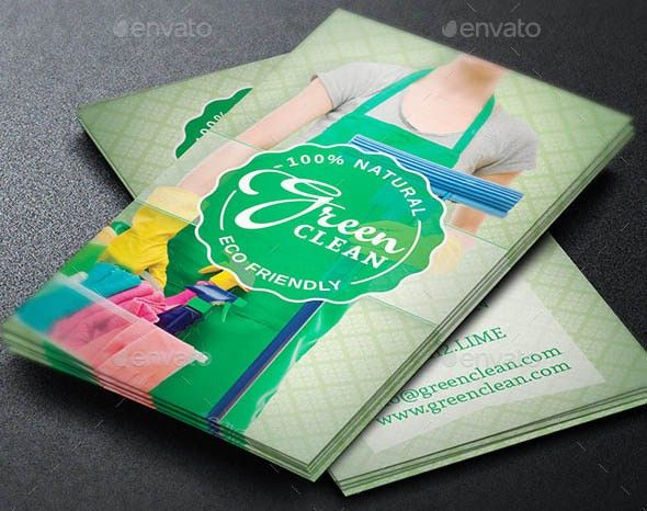 17 Beautiful Cleaning Service Business Card Templates – Design ...