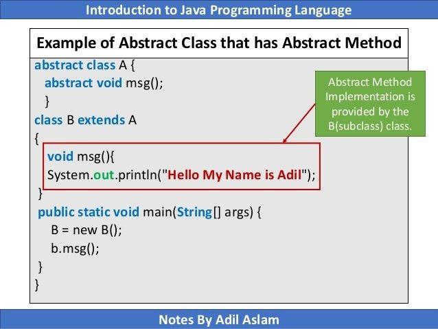 Object Oriented Programming in Java (Slide 5/6)