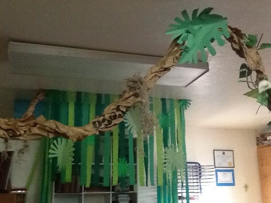 Vines paper and decor on pinterest for Decoration jungle