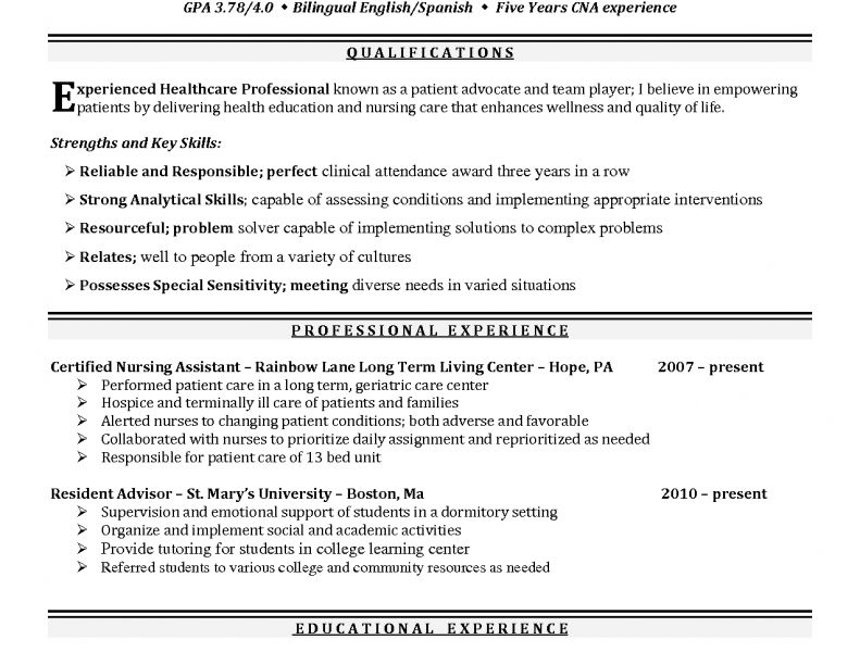 Projects Inspiration Student Nurse Resume 15 Examples Resumes ...