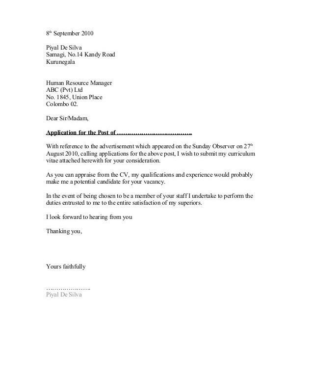 Most Interesting Generic Cover Letter For Resume 9 Cover General ...