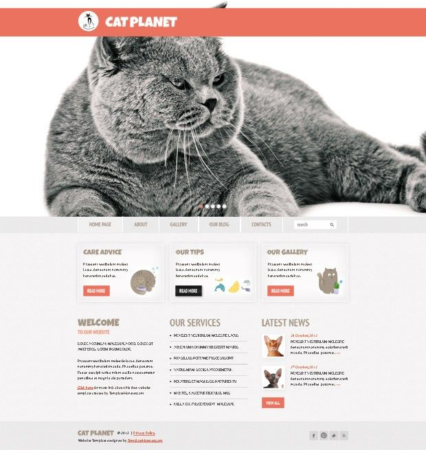 Free Cherry WordPress Theme for Cat Site http://www ...