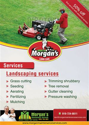 38 Colorful Modern Landscaping Flyer Designs for a Landscaping ...