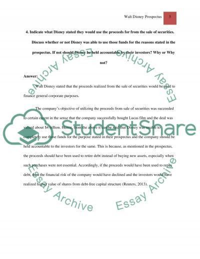 Walt Disney prospectus Essay Example | Topics and Well Written ...