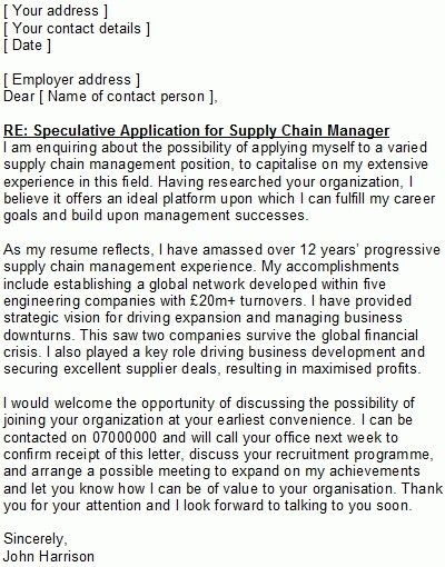 sample german cover letter. speculative application cover letter ...