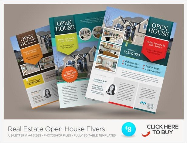 Premium Real Estate Flyers by kinzi21 | GraphicRiver