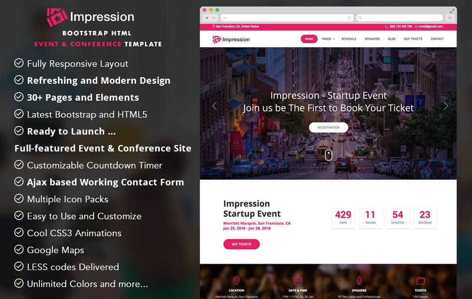 30+ Best Event and Coming soon Bootstrap HTML5 Templates