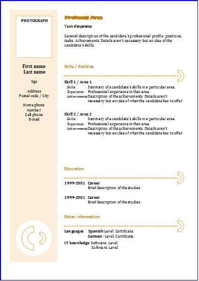 Functional CV: templates | Resume templates