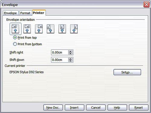 Printing envelopes - Apache OpenOffice Wiki