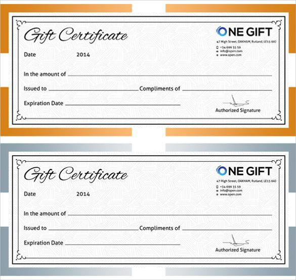 Editable Blank Gift Voucher Format Sample with Date and Year and ...