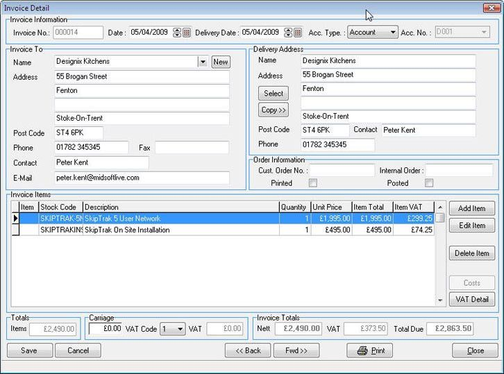 Invoicing Software - Billing Software - Midsoft - Free Download ...
