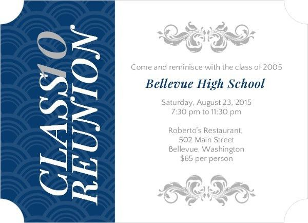Class Reunion Invitation Wording - Reunion Wording Ideas