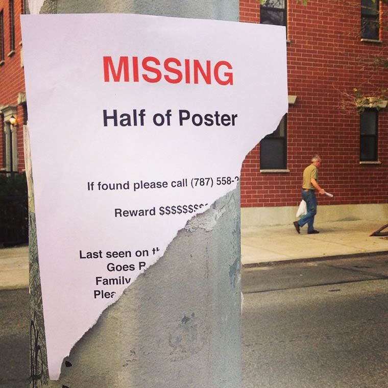 Humorously pointless missing posters | Daniel Swanick