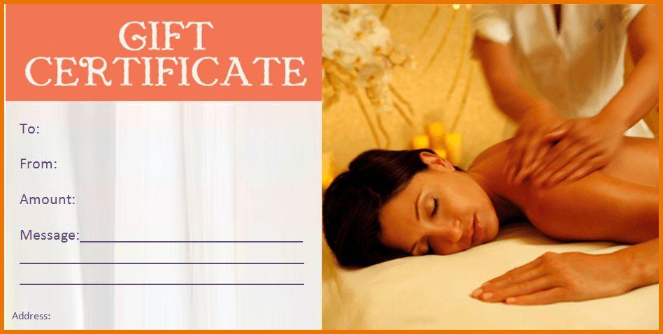 Massage Gift Certificate Template.Customizable Spa Gift ...