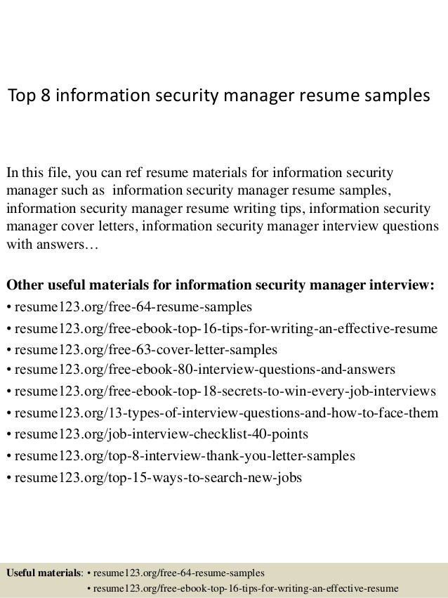 Download Sample Security Manager Resume | haadyaooverbayresort.com