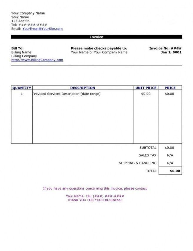 Simple Invoice Template Pdf Key | Design Invoice Template