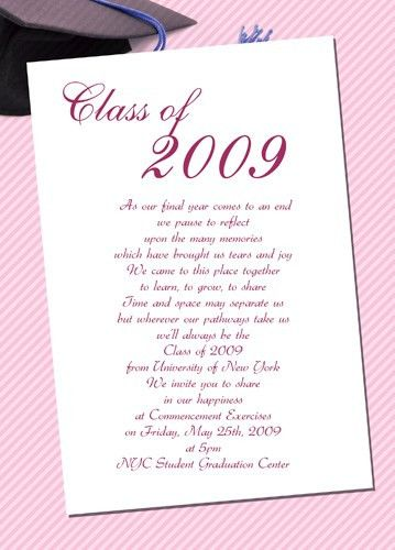Sample Graduation Invitation - cloveranddot.Com