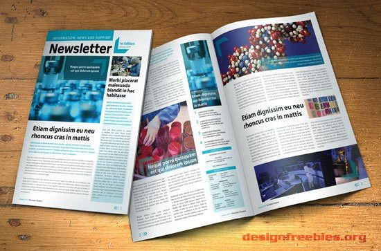 Free InDesign newsletter template: Design no. 2 | Free InDesign ...