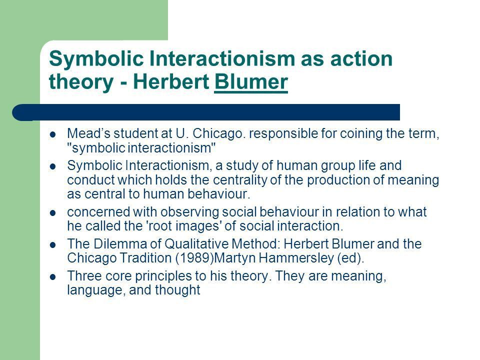 Symbolic Interactionism - ppt video online download
