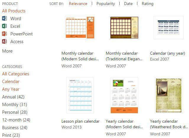 10+ Sites To Find The Perfect Free Printable Calendar Template All ...