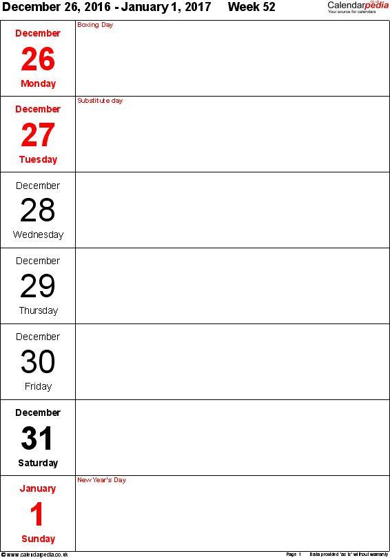 free printable weekly calendars 2017 - thebridgesummit.co