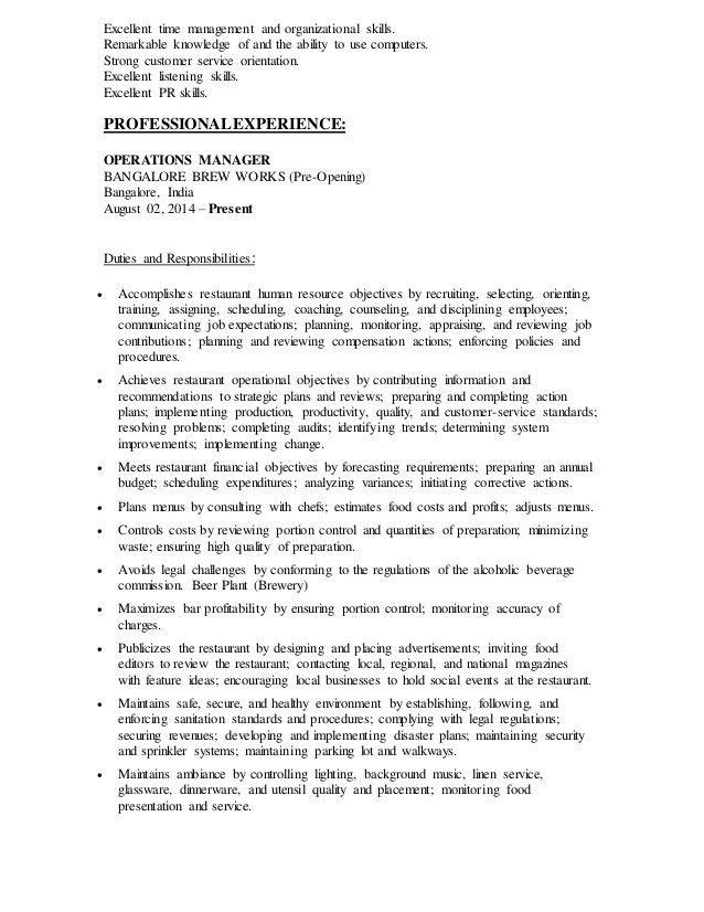 Resume Organizational Skills - Template Examples