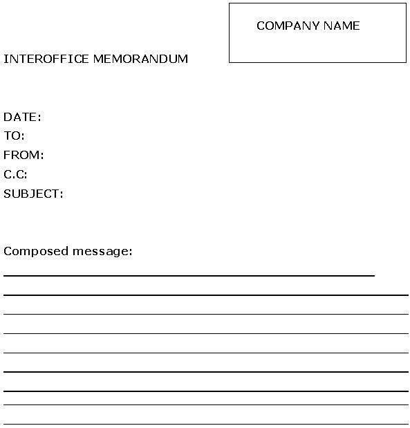 Interoffice Memorandum Template | Sample Business Templates