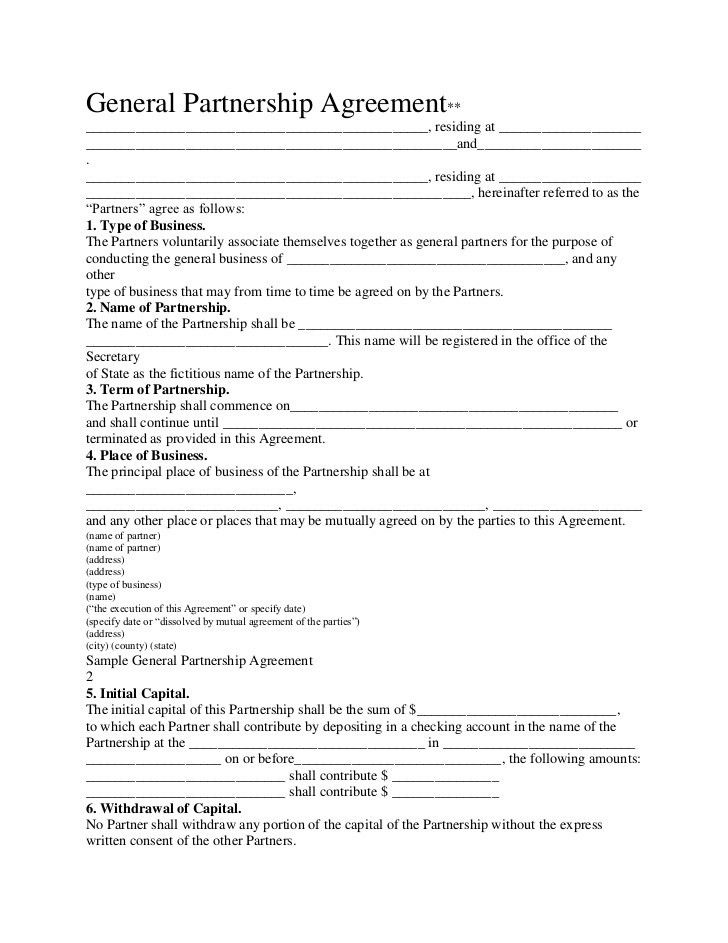 Sample Business Partnership Agreement. Free Arkansas Partnership ...