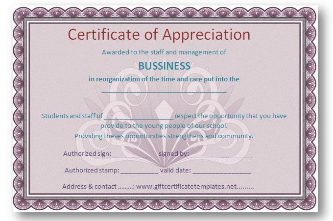 Employee certificate of appreciation template - Certificate ...