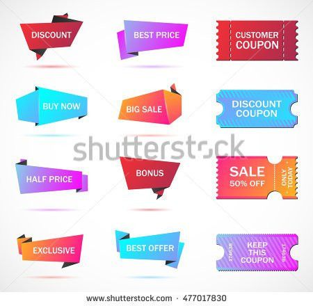 Vector Stickers Price Tag Banner Label Stock Vector 421441570 ...
