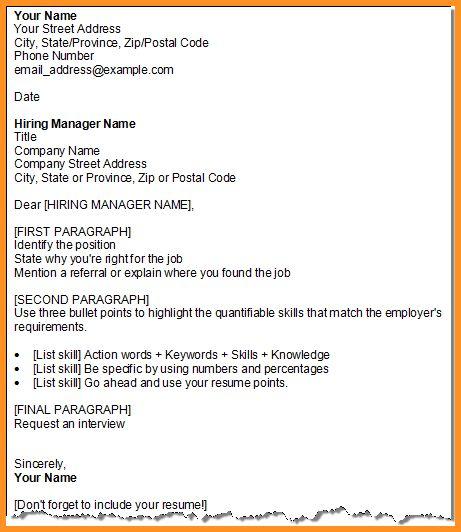 6+ letter format outline | cook resume