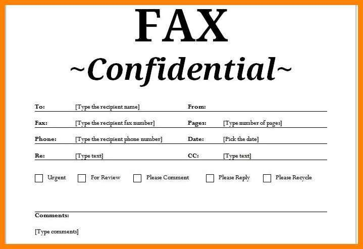 Fax Cover Sheet Resume Template - Ecordura.com
