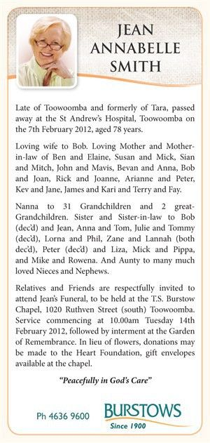 The Funeral Notice - Burstows