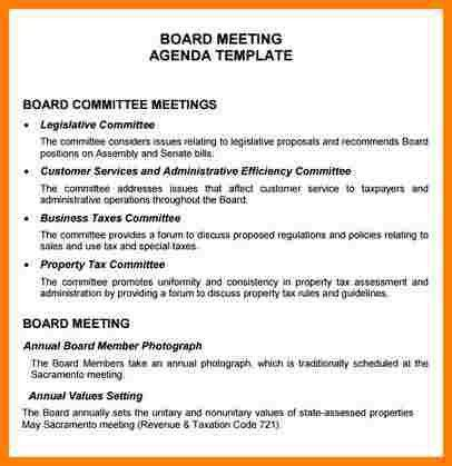8+ nonprofit board meeting agenda template | letter format for