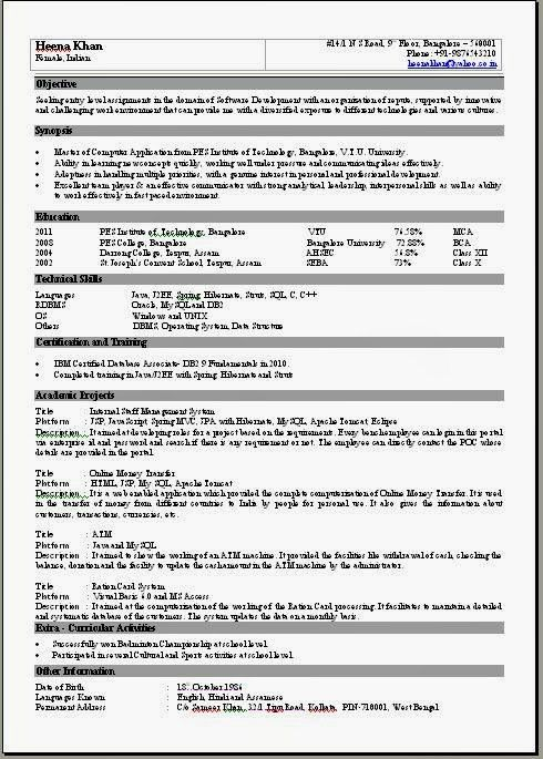 Download 1 Page Resume Template | haadyaooverbayresort.com