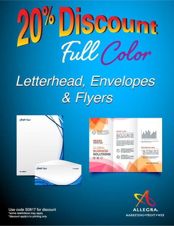 June Special - 20% Discount - Full Colour Letterhead, Envelopes ...