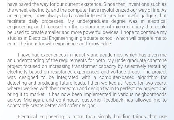 Help with Statement of Purpose Electrical Engineering | Statement ...