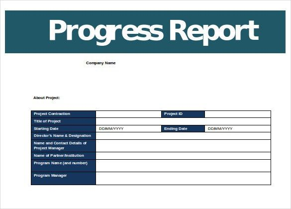 Progress Report Template – 12+ Free Word, PDF Documents Download ...