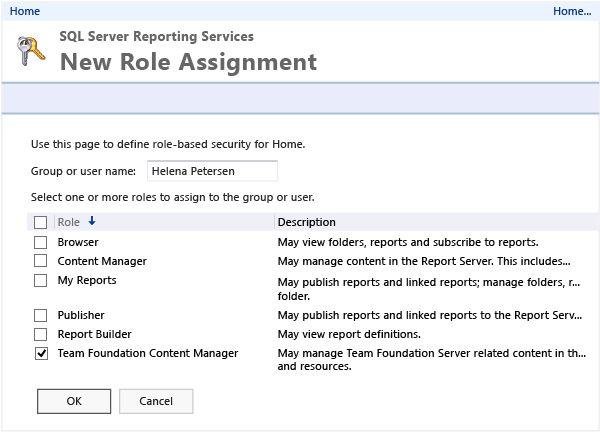 Set administrator permissions for Team Foundation Server