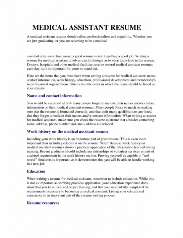 Patient Care Assistant Resume – Resume Examples