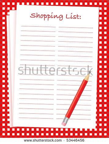 Shopping List Isolated Stock Images, Royalty-Free Images & Vectors ...