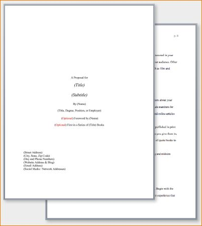 8+ Book Proposal Template | Timeline Template
