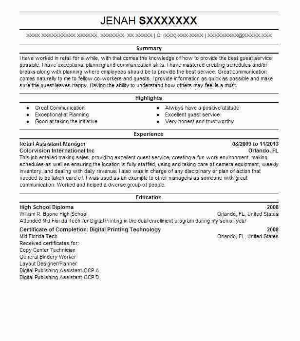 Printing Company General Manager Resume Manager Resume Example